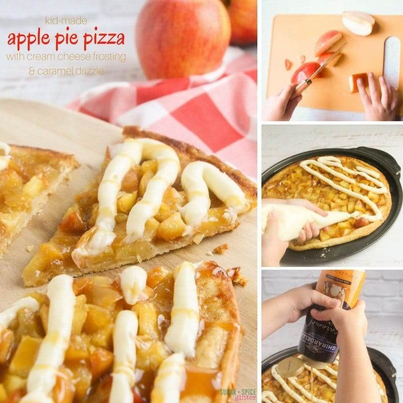 apple pizza dessert cream cheese