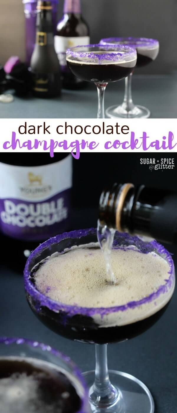 A decadent and delicious cocktail for the stout drinker who wants something a bit special and bubbly - a dark chocolate champagne cocktail!