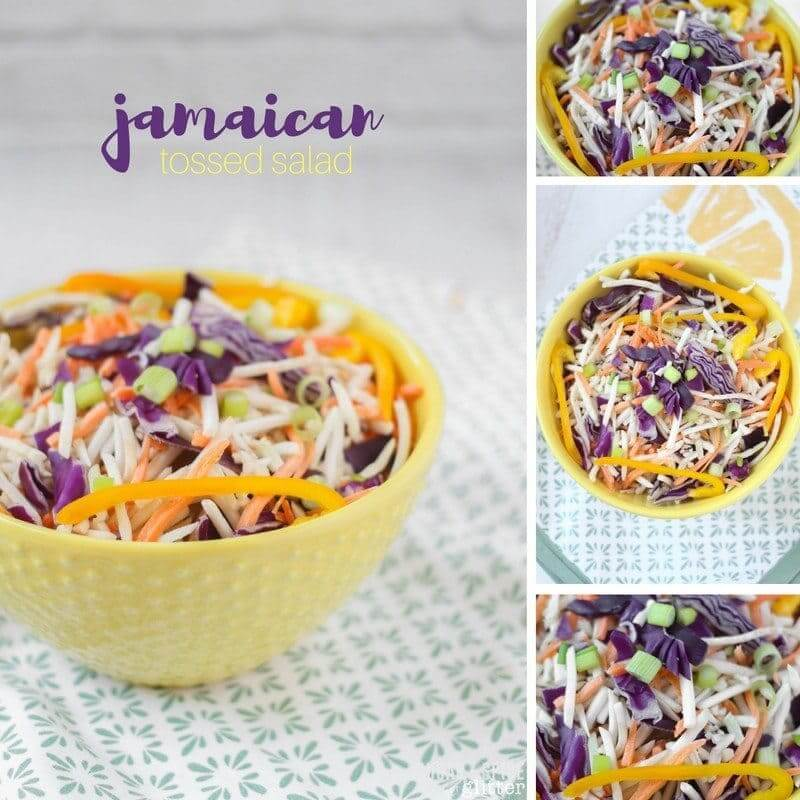 This traditional Jamaican tossed salad is a classic that is perfect for serving alongside spicy food