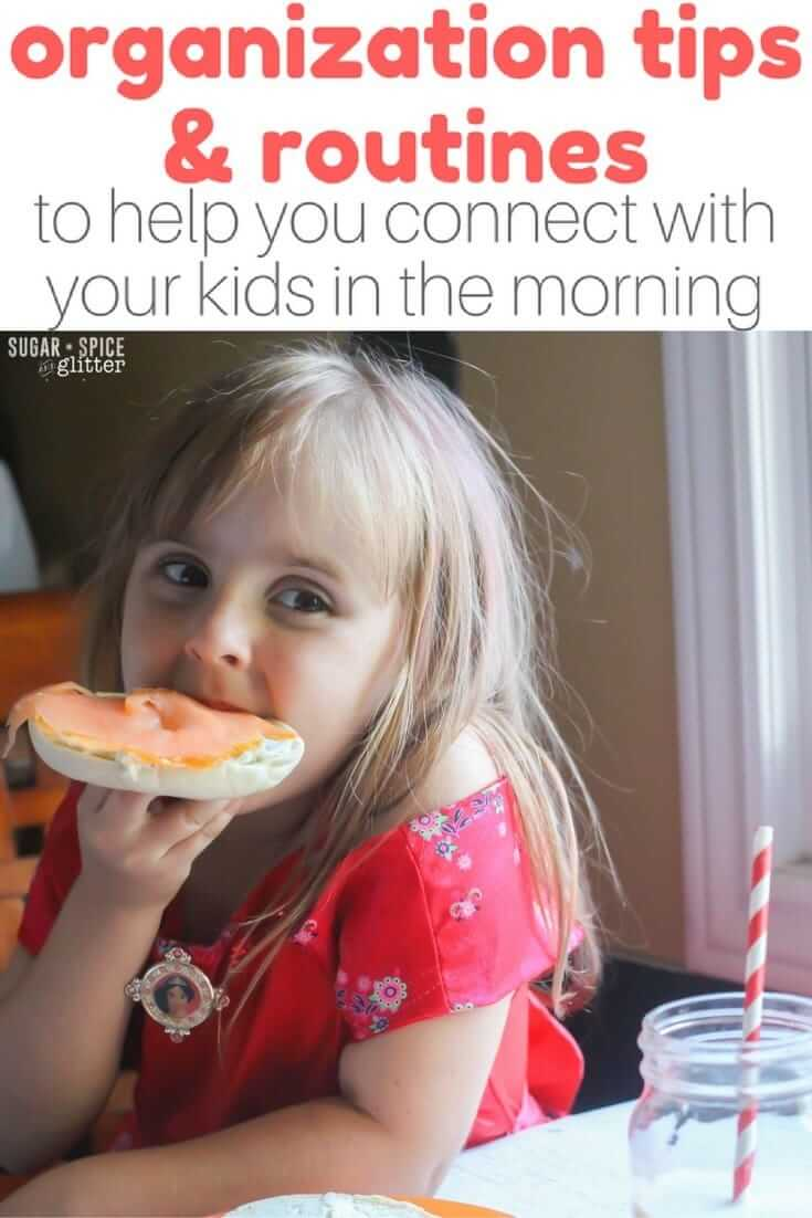 The key to easier mornings and connecting with your kids over breakfast is organization and routines; it is possible to turn things around and make mornings a calm, peaceful start to your day with the right routines and organization in place. Here's how this mom has changed her mornings with 6 kids #BetterBreakfast ad