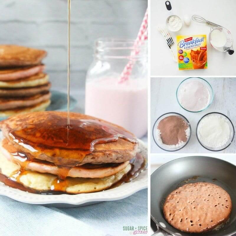 How to make neapolitan pancakes enriched with hidden vitamins and nutrients