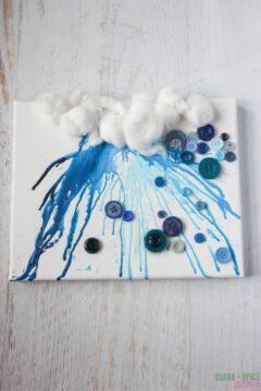 Crayon Drip Rain Cloud