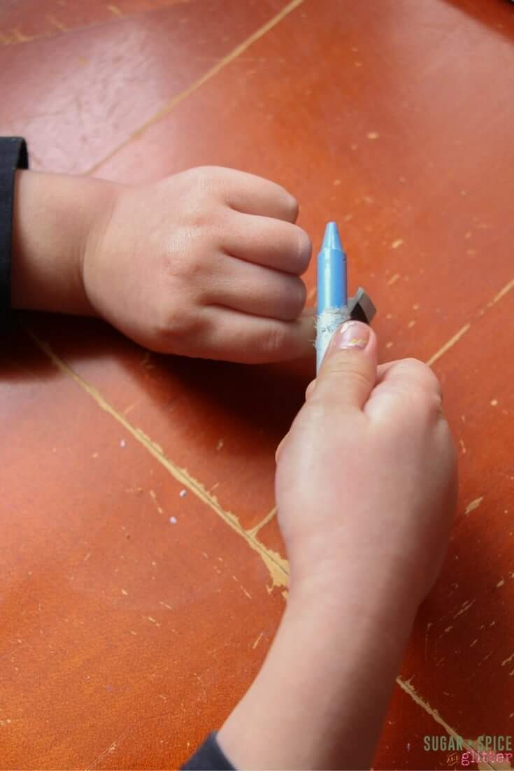 Process art engages the creative muscles, but can also be great for fine motor muscles, too!