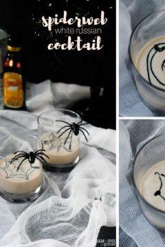 Spiderweb White Russian Cocktail