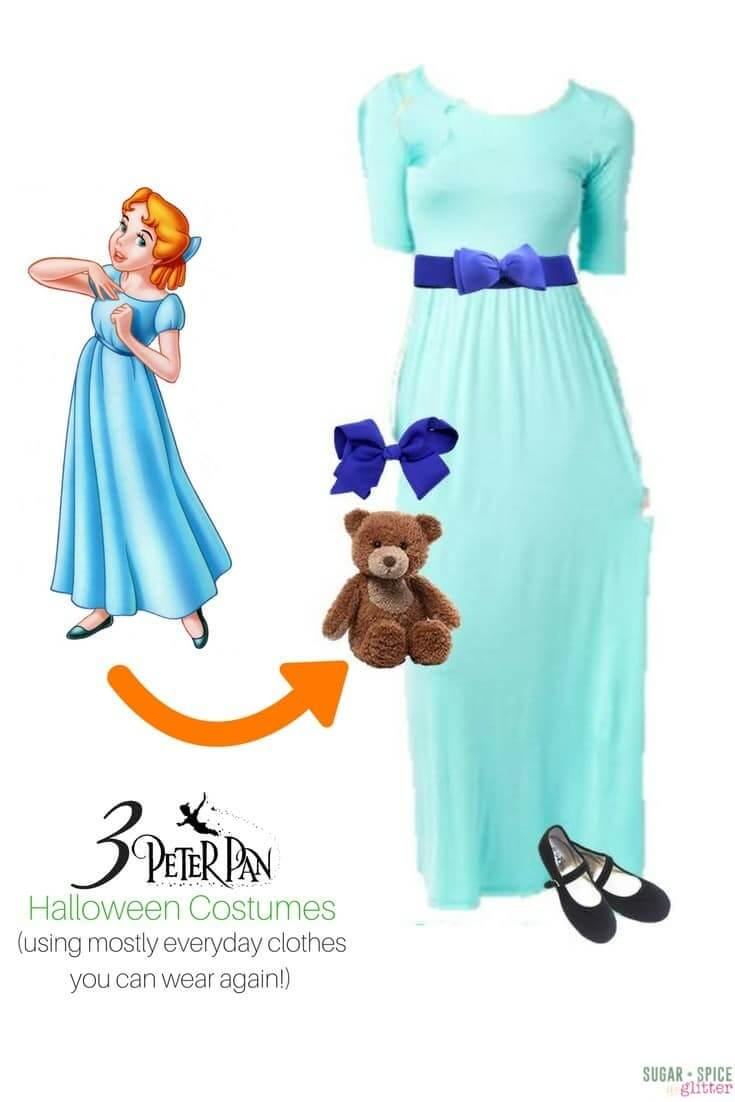 Wendy Darling Disneybounding - Halloween costume for grown-ups using everyday clothes