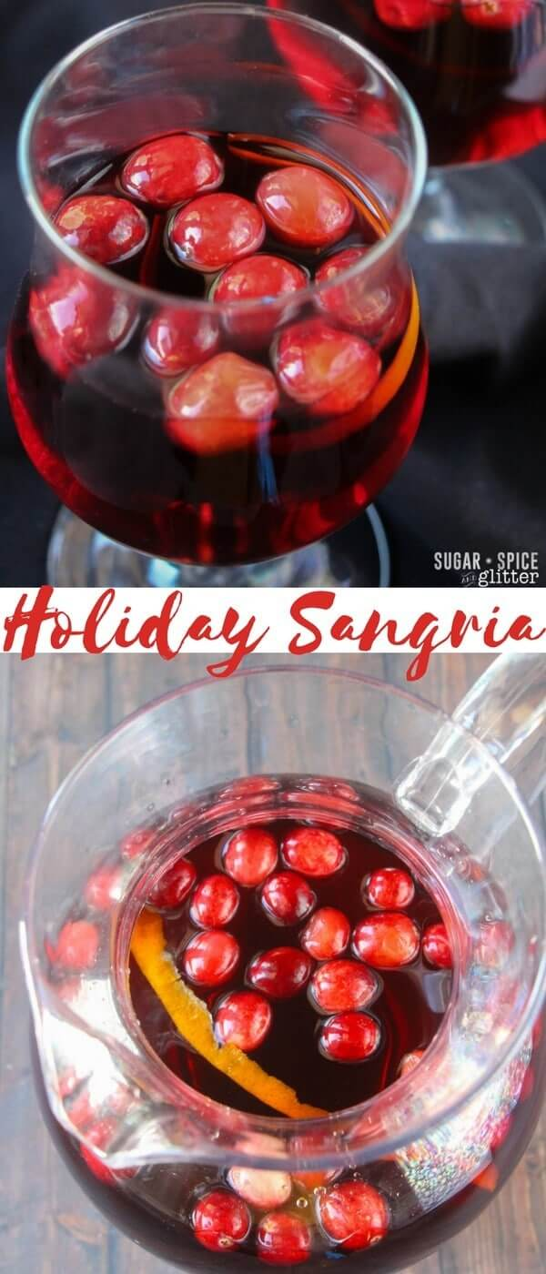 A festive and delicious holiday sangria using winter fruits and cranberry wine. A lighter and crisper option to mulled wine during the holidays