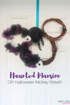 Haunted Mansion DIY Mickey Halloween Wreath