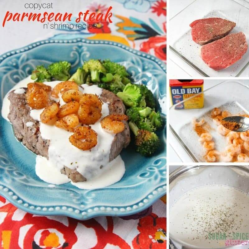 How to make a delicious Copycat Parmesan Steak and Shrimp recipe - just like Applebee's