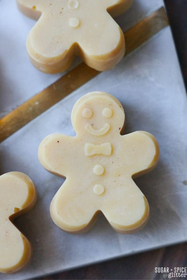 An easy no-cook recipe for gingerbread fudge, a sweet and simple homemade candy recipe for Christmas