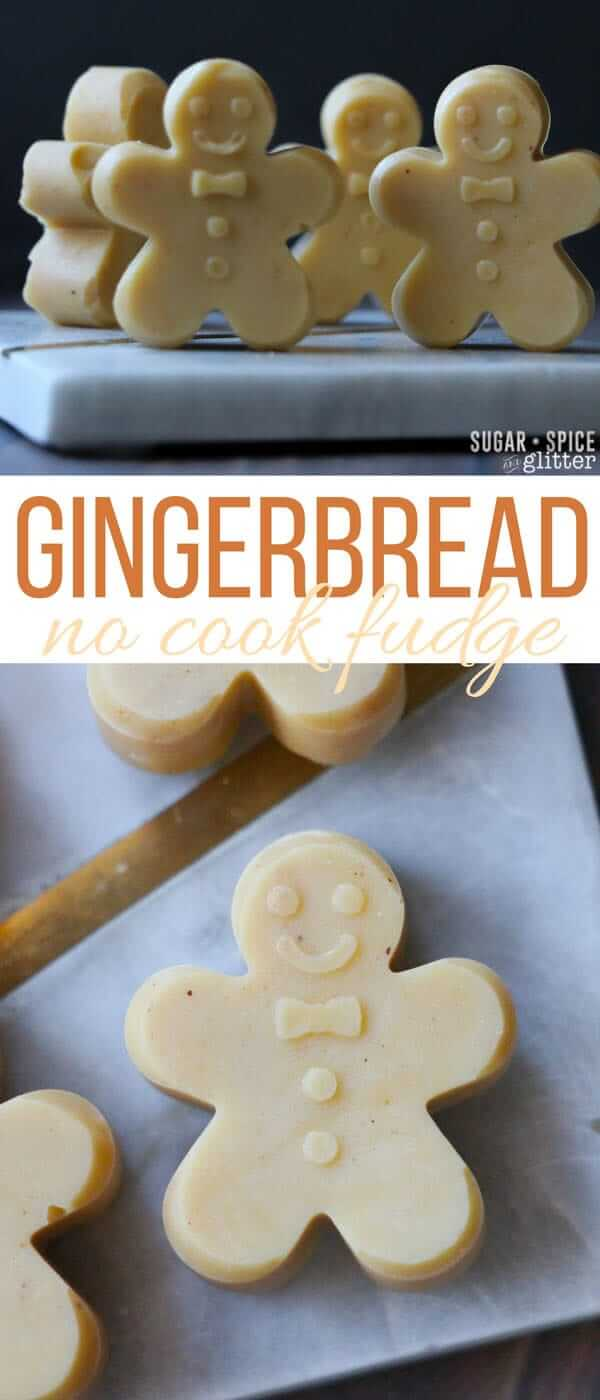 An easy and simple no-cook fudge for Christmas, these Gingerbread fudge are so cute and make a perfect homemade gift for the gingerbread lover on your list