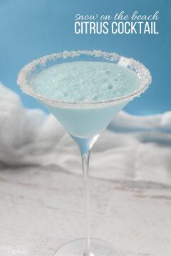 Snow on the Beach Martini