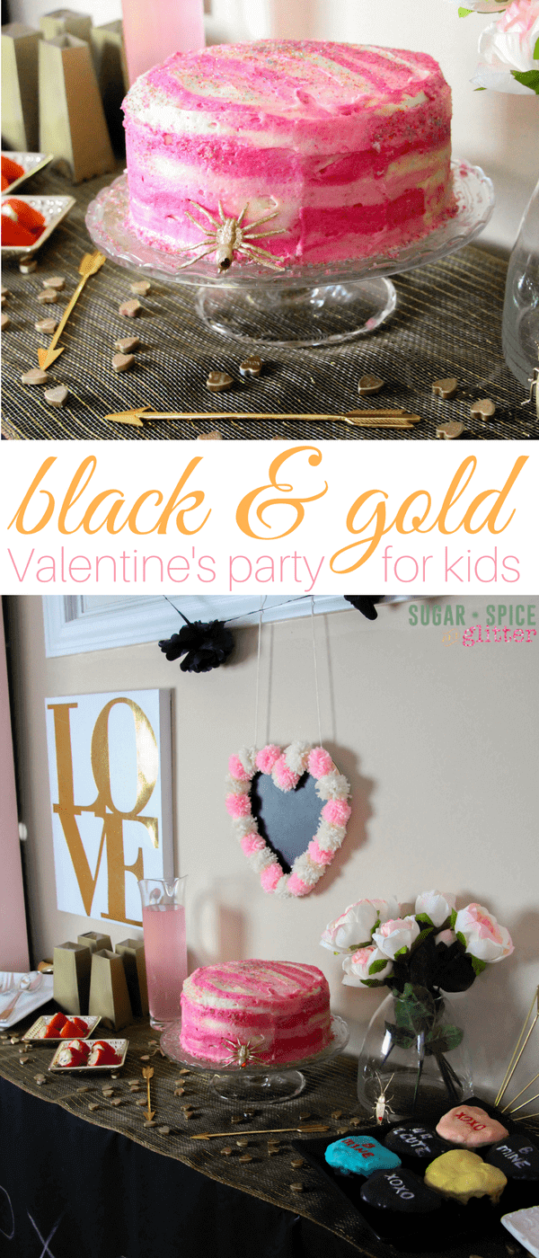 Black and gold Valentine's Party for Kids - complete with party planning printables, tips on how to make throwing casual parties stress-free so you can enjoy the preparation as much as the party