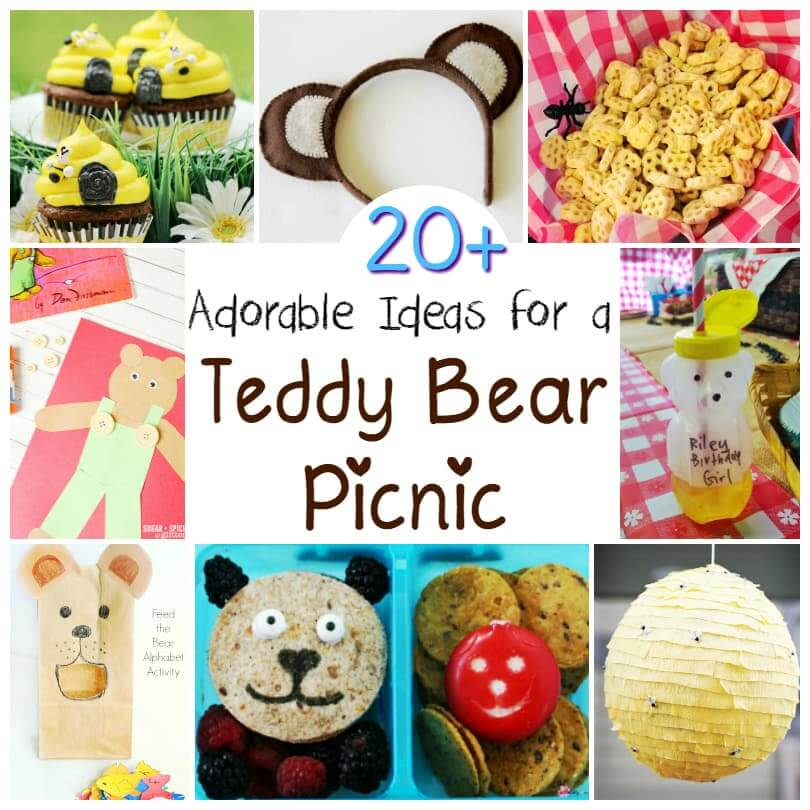 So much inspiration here for a teddy bear picnic - Teddy Bear Picnic Day is July 10th, so be prepared with this collection of ideas
