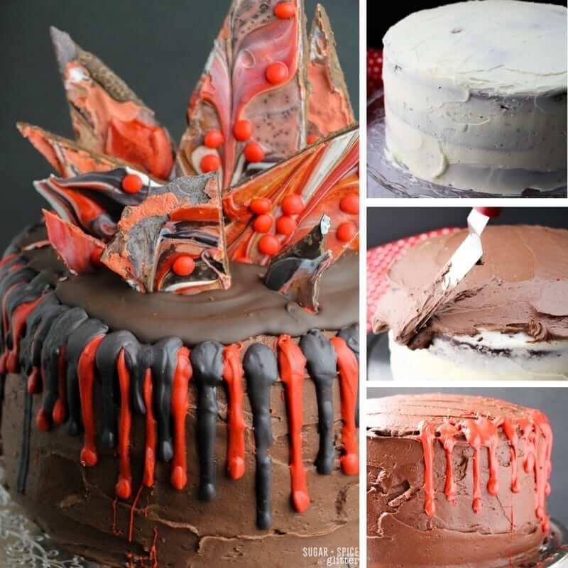 How to make a cinnamon heart red velvet cake