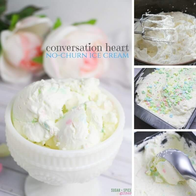 How to make an easy no-churn conversation heart ice cream