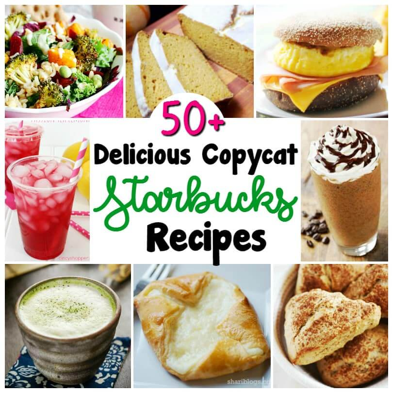 Dive into this delicious collection of over 50 Starbucks Copycat Recipes - from Starbucks drink recipes to Starbucks baked goods and more, we've got all the secret recipes covered!