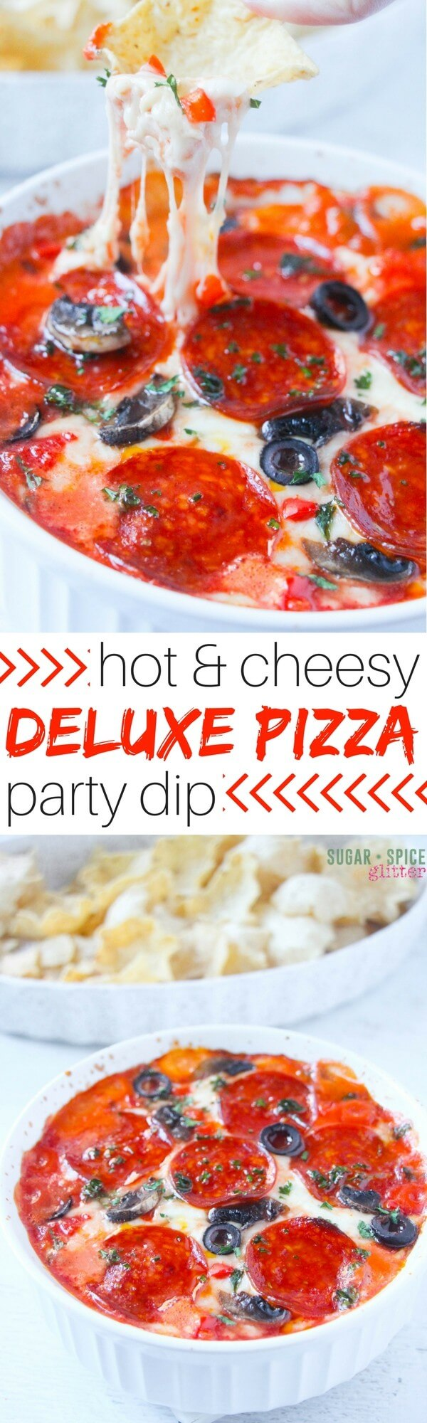Grab your free printable for our hot pizza dip recipe: