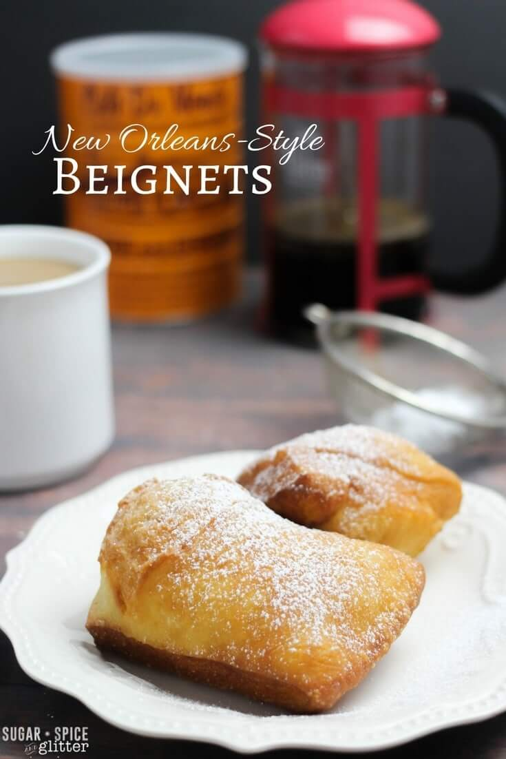 Perfect for Mardi Gras, a family brunch, or a gathering of friends in the afternoon, these delicious New Orleans-style Beignets are super easy to make and will leave you feeling happy and indulged