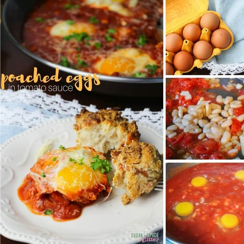"""How to make easy poached eggs in tomato sauce, aka """"eggs in hell"""""""