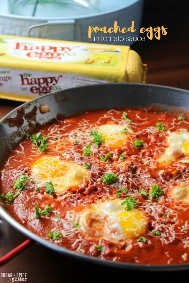 How to make a quick and easy poached eggs in tomato sauce, a hearty classic meal that your entire family will love. Serve with fresh bread or on top of pasta.