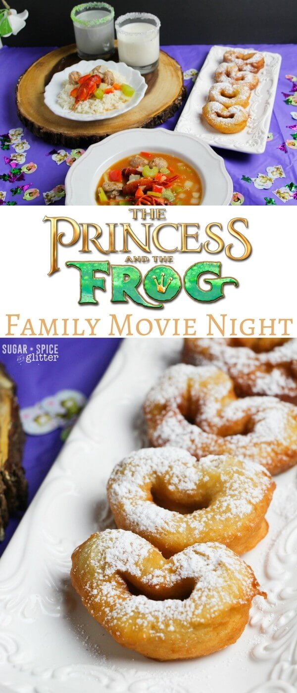 Princess & the Frog Disney Family Movie Night with easy decor, craft and menu ideas. Grab your free printable planning sheet for your own family movie night and get some inspiration!