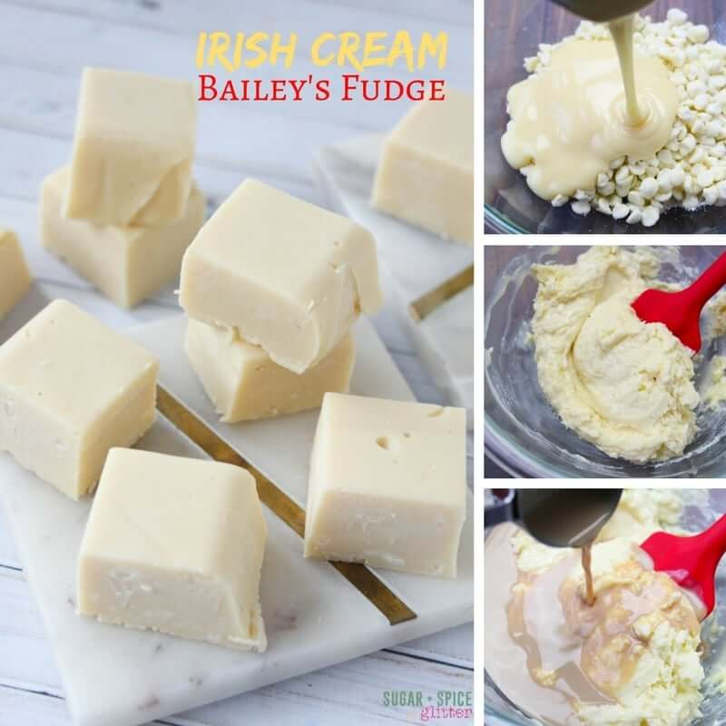 An easy 4-ingredient Bailey's fudge recipe, you can whip this easy no-cook fudge up in less than 10 minutes