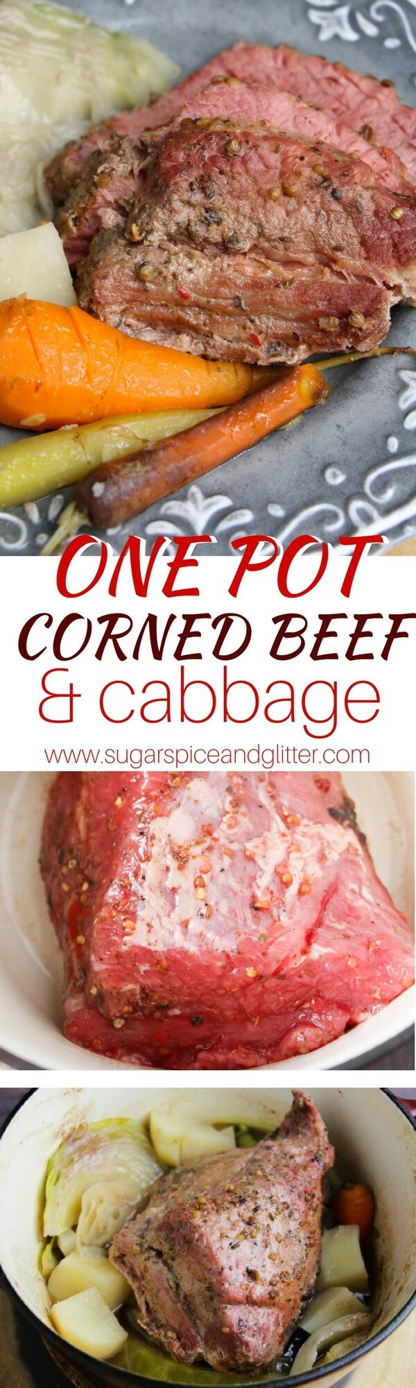 A One Pot Corned Beef and Cabbage recipe perfect for New Year's, Saint Patrick's Day or just a special Irish supper!