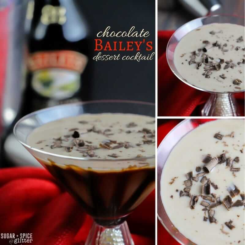 How to make a chocolate dessert cocktail with Bailey's and chocolate liqueur