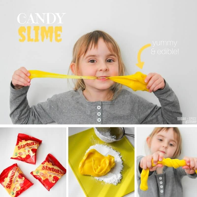 How to make edible Candy Slime for a delicious sensory play experience free from chemicals - borax-free, glue-free slime