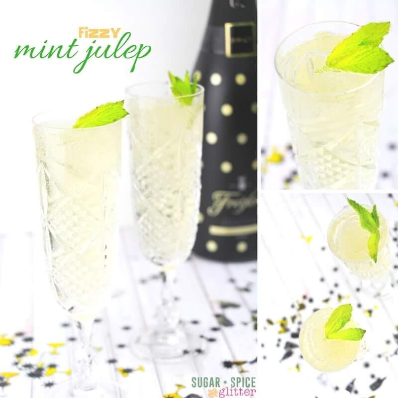 How to make a mint julep cocktail spiked with champagne