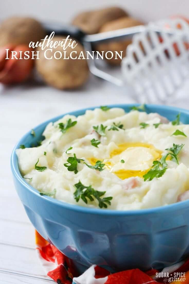 Irish Colcannon is the ultimate comfort food. Creamy, buttery mashed potatoes loaded with bits of ham, buttery cabbage and scallions - there's a reason the Irish are known for their potatoes
