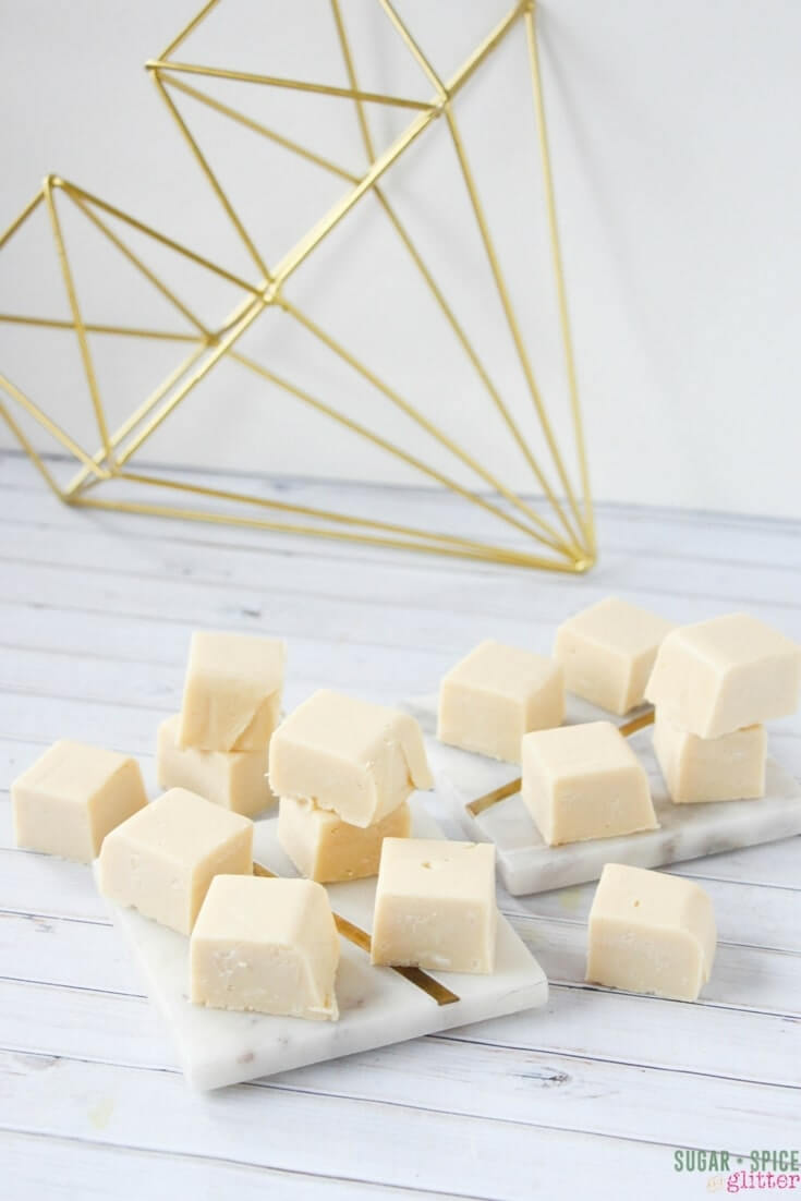 A sweet homemade gift - Bailey's Fudge is made with just 4 ingredients and less than 10 minutes cook time