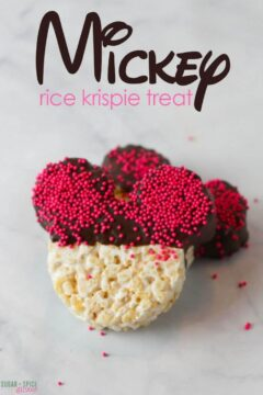 Mickey Rice Krispie Treat
