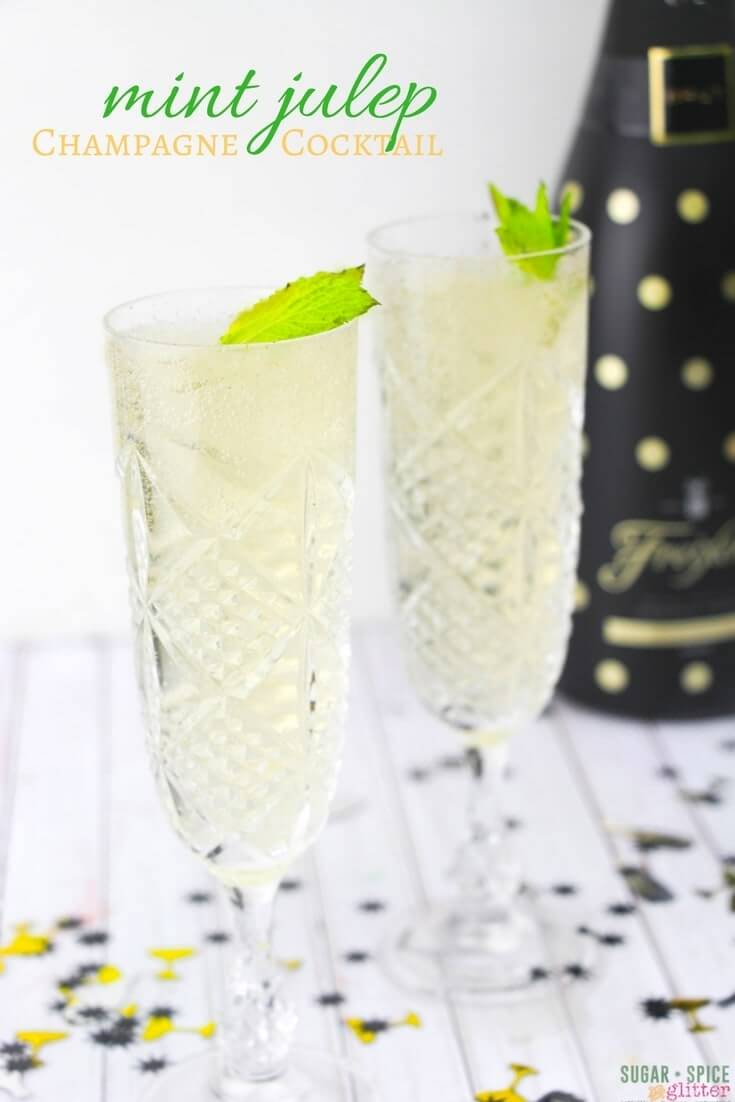 An effervescent take on the classic Mint Julep cocktail. This champagne cocktail is smoother than a traditional mint julep but still has all of the flavor