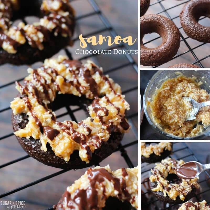 How to make delicious Samoa-inspired chocolate donuts - a decadent brunch treat or donut party food