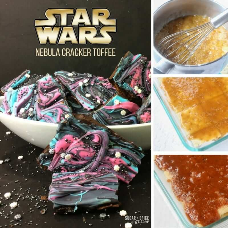 How to make easy Star Wars nebula cracker toffee - a delicious treat for any Star Wars fan with a sweet tooth