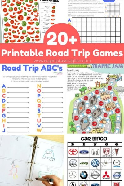 20+ FREE Road Trip Game Printables