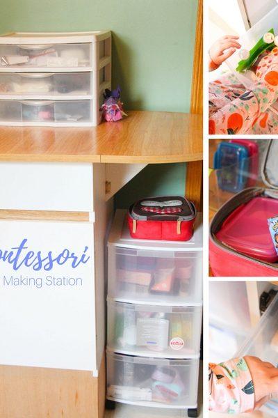 Back to School Montessori Lunch Station