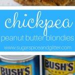 Chickpea Peanut Butter Blondies