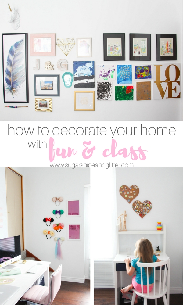 Fun tips on using what you already have to decorate your home with fun and glass. Display collections and build gallery walls in a way that shows your family's personality but doesn't break the bank