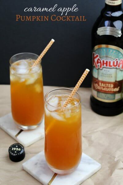 Salted Caramel Apple Pumpkin Cocktail