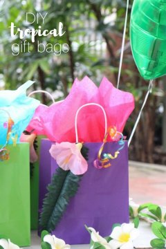 DIY Tropical Gift Bags
