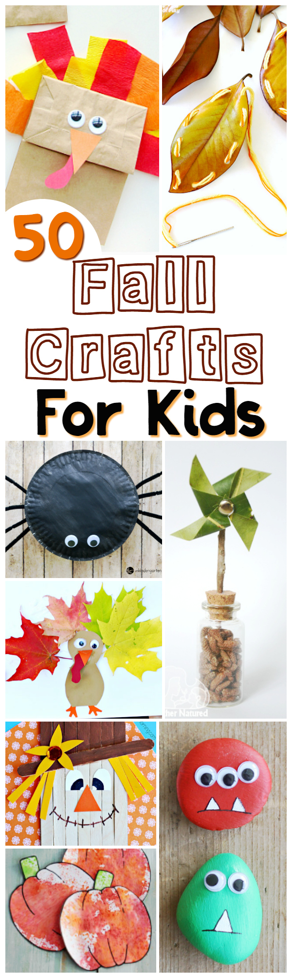 Easy Fall Crafts Kids can actually do - awesome autumn activities for mixed age groups, these fall crafts don't involve any expensive craft supplies - most of them you probably have everything you need already in your craft cupboard!