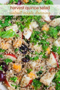 Fresh Fall Quinoa Salad with Maple Walnut Dressing