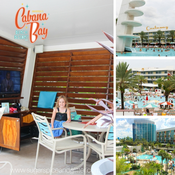 Review of all amenities at Cabana Bay Beach Resort including the Lazy River, water slide and two pools