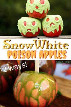 Snow White Poison Candy Apple (2 ways)