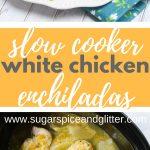 Slow Cooker Green Chicken Enchiladas