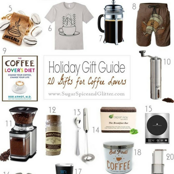 Make their morning with these 20 gifts for coffee lovers. Everything from the best coffee makers, coffee of the month clubs, digital coffee mugs, coffee necklaces, coffee beauty products - and more!