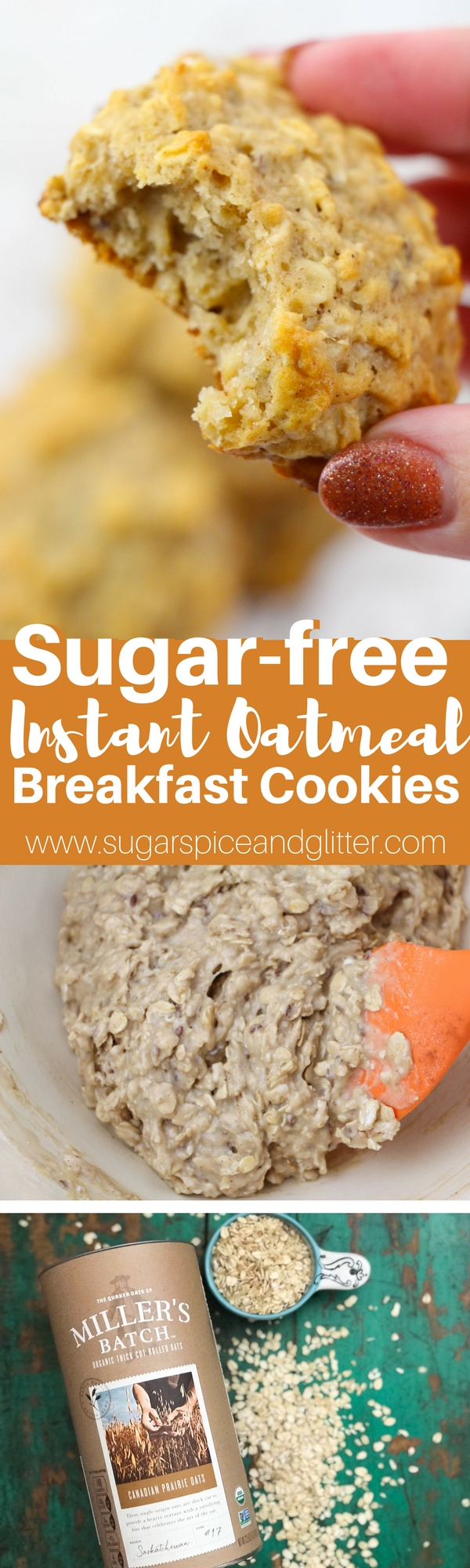 These Sugar-free Instant Oatmeal Breakfast Cookies are just sweet enough to feel like a treat (thanks to mineral-rich maple syrup) with a crunchy exterior and a chewy, cake-like texture that isn't too dense. Your kids won't believe you're letting them having cookies for breakfast!