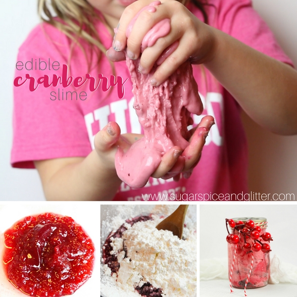 How to make an edible cranberry slime with just two ingredients